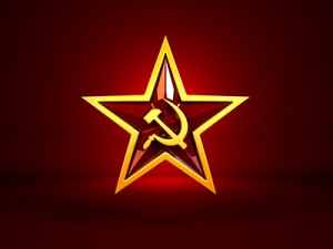 Soviet star label.